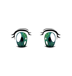 bright eyes of green cololrs beautiful eyes with vector image