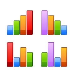 Business graph growth progress vector