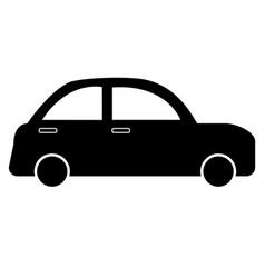 car icon on white background flat style simple vector image