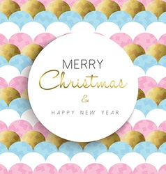 Christmas and new year bright gold design vector