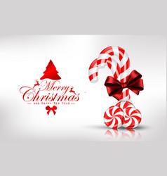 Christmas background with lollipop vector