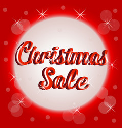 christmas sale sign banner template vector image