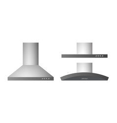 Collection of different range hood vector