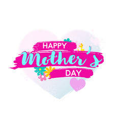 colorfil happy mother s day poster or banner vector image