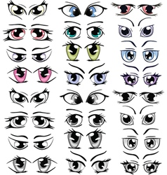 Complete Set of the Drawn Eyes for you Design vector image
