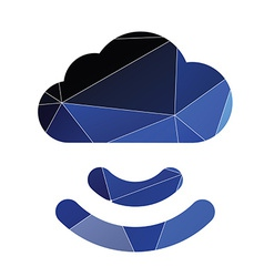 connect cloud icon Abstract Triangle vector image