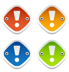 Exclamation mark labels vector