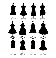 Fashion dresses vector image