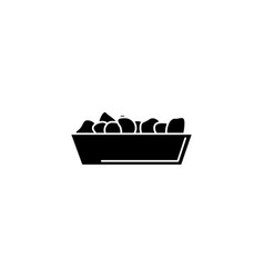 fast food line style icon vector image