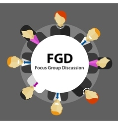 Fgd focus group discussion get customer feedback vector