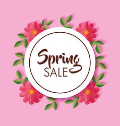 flowers spring sale vector image