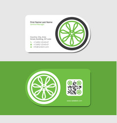 green business card for the trucking company vector image