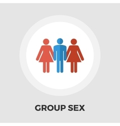 Group sex flat icon vector