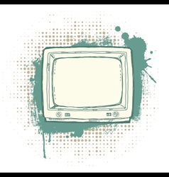 Grunge TVset vector