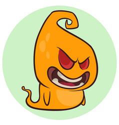 halloween cartoon ghost character vector image
