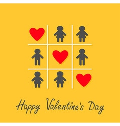 Happy valentines day love card man woman icon tic vector