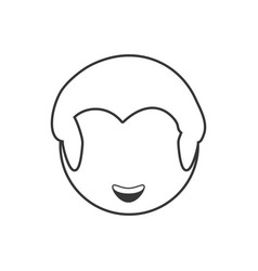 head male avatar outline vector image