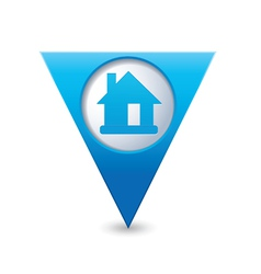 Home icon map pointer blue vector
