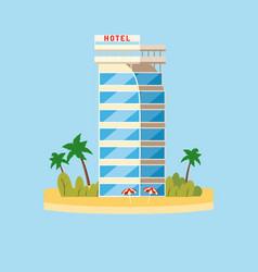 hotel vacation travel tropical island building vector image