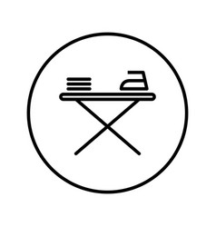 ironing board icon editable thin line vector image