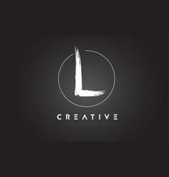 L brush letter logo design artistic handwritten vector