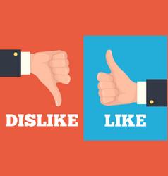 Like and dislike hands vector