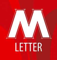 Logo the letter m in the form of a drawing vector
