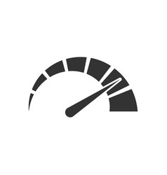 Meter dashboard icon in flat style credit score vector