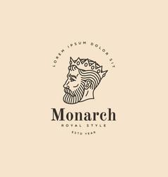 monarch logo vector image