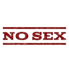 No Sex Watermark Stamp vector image