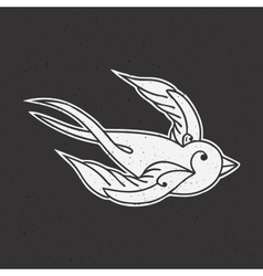 Old school tattoo bird vector