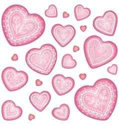 Ornate decorative heart set vector