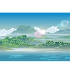 overgrown coast vector image