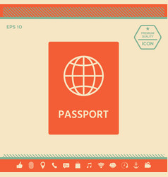 passport icon symbol vector image