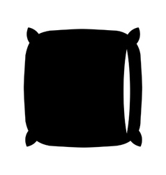 Pillow black icon vector image