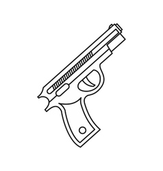 Pistol gun icon outline style vector