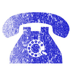 Pulse phone grunge textured icon vector