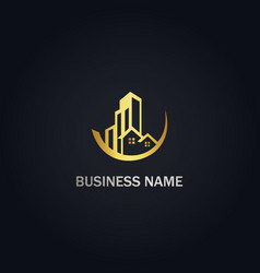 realty building business logo vector image