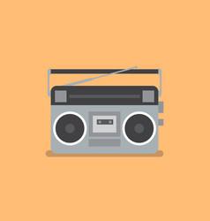Retro radio and cassette player vector