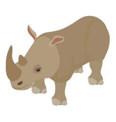 rhinoceros icon isometric style vector image