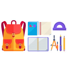 Rucksack fashionable model and school accessory vector