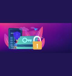 Security access card header banner vector