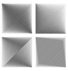 Set manga pop art background diagonal lines vector