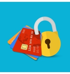Set of secure credit card vector image