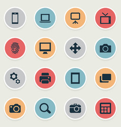 set of simple device icons vector image