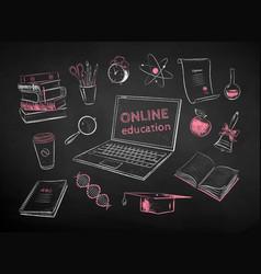 set online education items vector image