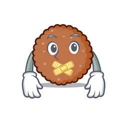 Silent chocolate biscuit mascot cartoon vector