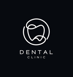 simple dental teeth logo design vector image
