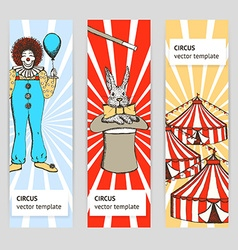 Sketch circus rabbit and clown vector