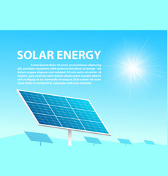 Solar energy in sunny day with space as background vector